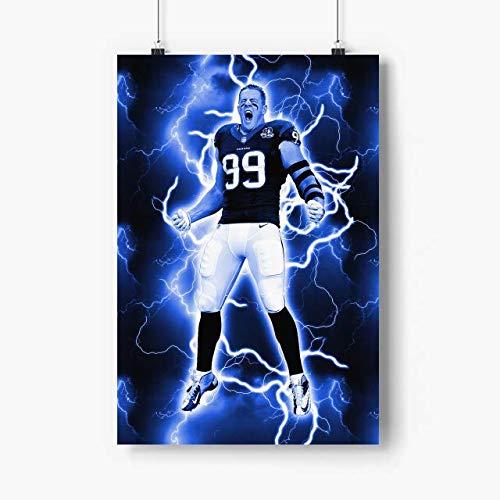 Venus Store Jj Watt Poster Artwork N.1015 - No Frame - Houston Football Player Poster Paper, American Football Wall Art, Gift for Football USA Lovers, Gift for Husband, Son, Grandson
