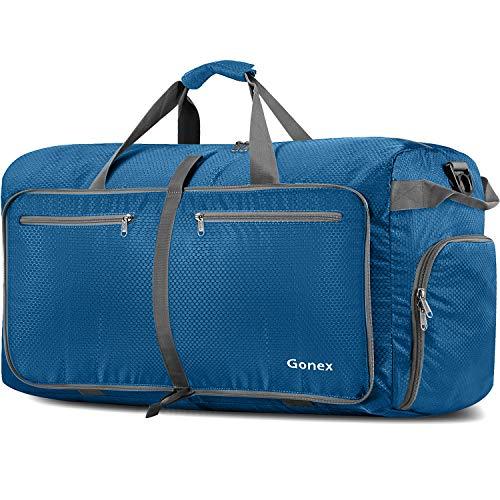 Gonex 150L Travel Duffel Bag Foldable Extra Large Duffle Bag XL Heavy Duty for Men Women for Luggage Shopping Deep Blue