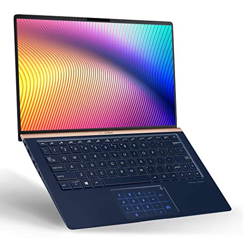 "ASUS UX333FA-AB77 ZenBook 13 Ultra Slim Laptop, 13.3"" FHD WideView, 8th-Gen Intel Core i7-8565U CPU, 16GB RAM, 512GB PCIe SSD, Backlit KB, NumberPad, Military Grade, TPM, Windows 10 Pro, Royal Blue"