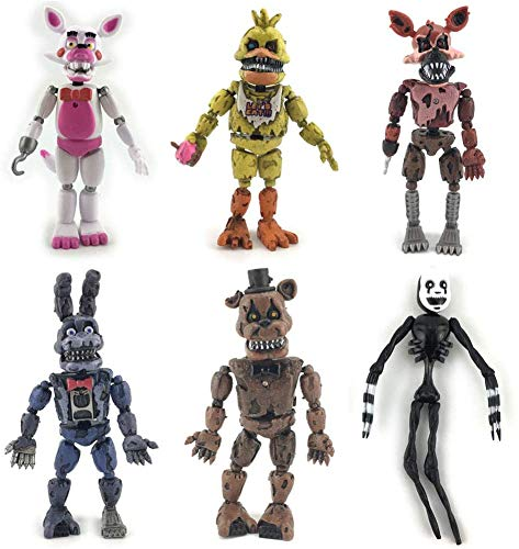 Five Nights at Freddy's Game FNAF Figure Funtime Freddy Foxy Sister Location Horror Doll Lightening Action Figures Toys with Movable Joints