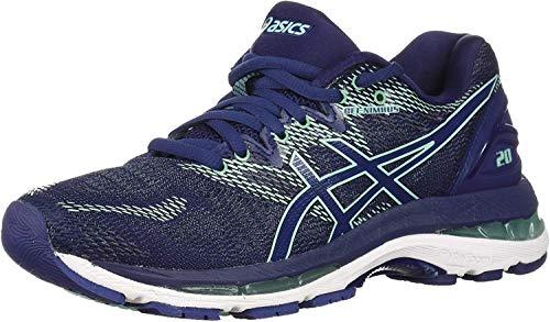 ASICS Women's Gel-Nimbus 20 Running Shoe, indigo blue/indigo blue/opal green, 6 Medium US