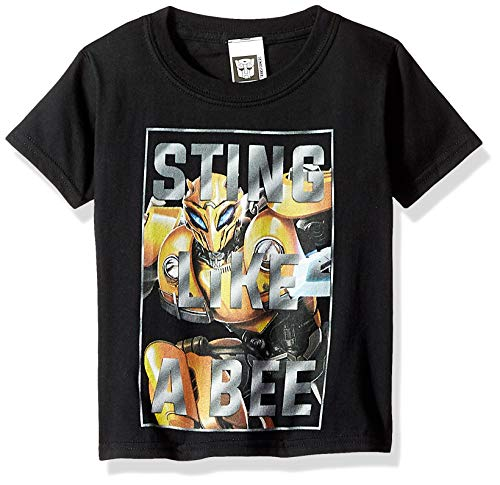 Transformers Big Bumblebee Movie Sting Like a Bee Boys Tee, Black, L-14/16