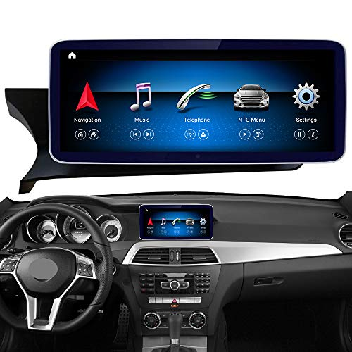 Road Top Android 10 Car Stereo 10.25' Touch Screen for Mercedes Benz C Class W204 C180 C200 C250 C300 C350 C63 AMG 2011-2014 Year, Supports Wireless CarPlay Android Auto Split Screen