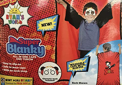 Ryans World Super Blanky Wearable Throw Cape with Sleeves and Mask
