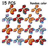 B bangcool Magic Flying Butterflies Rubber Band Powered Funny Wind Up Butterfly Toy Fairy Toy Surprise Gift (Multicolor)