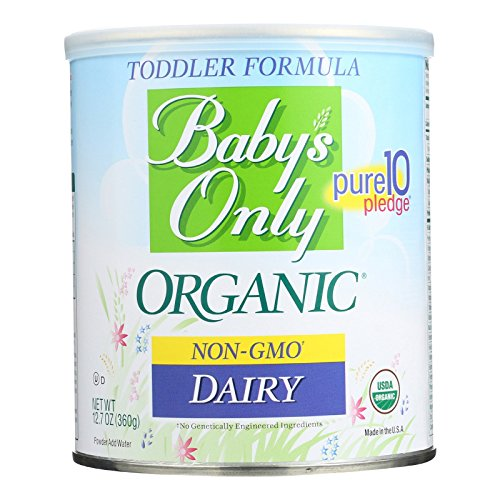 Baby's Only Dairy Toddler Formula, 12.7 Oz (Pack of 6) | Non GMO | USDA Organic | Clean Label Project Verified