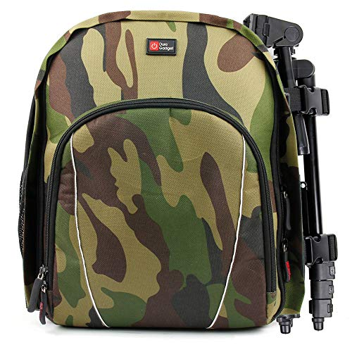 DURAGADGET Camouflage Water-Resistant Compact Backpack Organiser with Customizable Interior & Additional Raincover - Compatible with Gaosa Portable Bluetooth Speaker 10261559