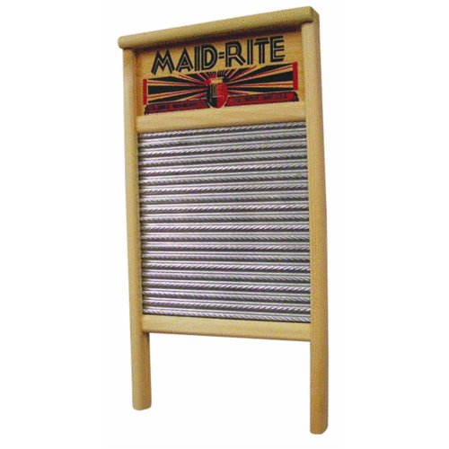 Columbus Washboard Family Size Washboard, Pack of 1, Silver