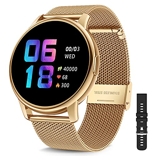 CanMixs Smart Watch for Android Phones ios, Fitness Tracker Digital Watch with Heart Rate Blood Oxygen Sleep Monitor IP68 Waterproof Smart Watch for Women Men Smartwatch 46mm Compatible iPhone Samsung