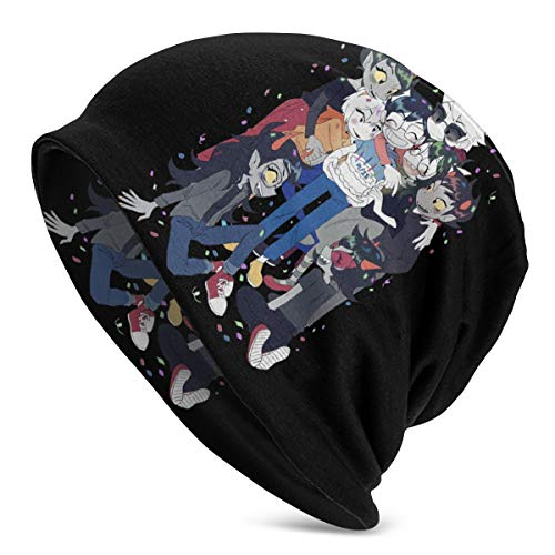 NarcNton Homestuck Winter Beanie Knit Hats for Men & Women -Warm Stretchy and Soft Everyday Sleigh Cap - Serious Peas