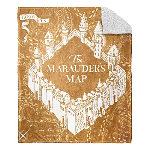 Harry Potter School Map Silk Touch Sherpa Throw Blanket, 50' x 60'