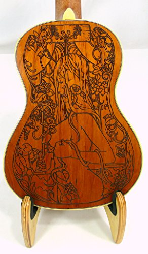 Alulu Solid Mahogany Tenor Ukulele, Laser Sexy Girl02, Including One Hard Case