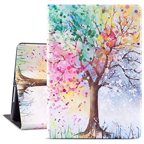 iPad Air 2 Case, Glowish 6th Generation iPad Cover,iPad 5th Generation Cases Premium Leather Folio Case Cover, Multiple Viewing Angles Stand for iPad 6th / 5th Gen iPad Air 2/ iPad Air(Season Tree)