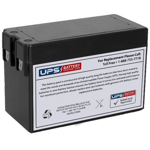 TLV1228 12V 2.8Ah Sealed Lead Acid Replacement Battery with F1 Terminals