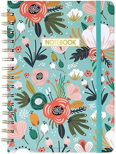 Ruled Notebook/Journal - Lined Journal with Premium Thick Paper, 8.4' X 6.25', College Ruled Spiral Journal/Notebook, Banded with Exquisite Inner Pocket, Hardcover