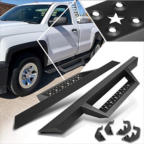 3 Inches Side Nerf Bar with Down Step Pads Running Borads Compatible with Silverado/Sierra Reg Cab 07-19