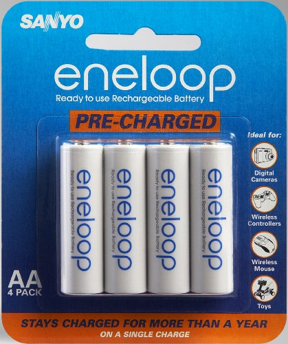 Sanyo Eneloop AA NiMH Pre-Charged Rechargeable Batteries - 4 Pack (Discontinued by Manufacturer)