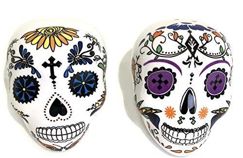 Day of the Dead Painted Skulls Ceramic Salt & Pepper Shakers
