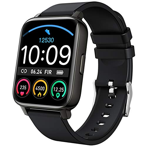 Smart Watch 2021 Watches for Men Women, Fitness Tracker 1.69' Touch Screen Smartwatch Fitness Watch Heart Rate Monitor, Pedometer, Sleep Monitor, IP67 Waterproof Activity Tracker for Android iPhone