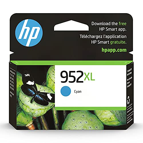 HP 952XL | Ink Cartridge | Cyan | Works with HP OfficeJet Pro 7700 Series, 8200 Series, 8700 Series | L0S61AN