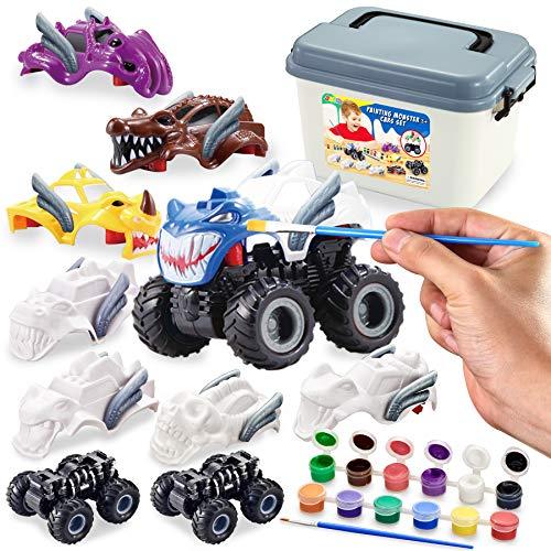 JOYIN Kids Craft Kit Build & Paint Your Own Monster Car Art & Craft Kit DIY Toy Set Make Your Own Monster Friction Powered Truck
