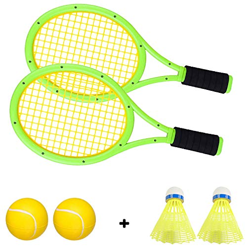 Crefotu Kids Tennis Racket,Plastic Tennis Racket Toys for Children Outdoor/Indoor Sport Game