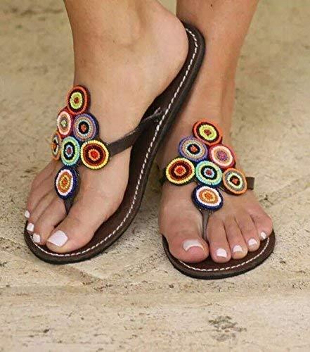 Globalhandmade Reef Sandy Sandals for Women - Handmade Summer Reef Flip Flops for Women