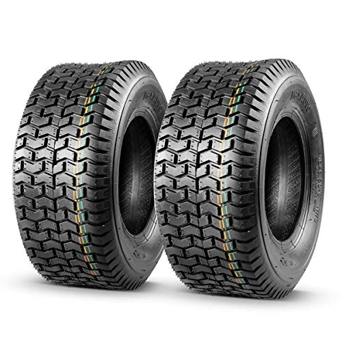Set of 2 16x6.50-8 16/6.50-8 16-6.50-8 16x650x8 Turf Tires 4Ply Tubeless Lawn Tractor Turf Saver