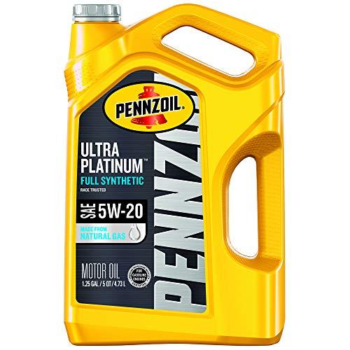 Pennzoil - 550045202 Ultra Platinum Full Synthetic 5W-20 Motor Oil (5-Quart, Single-Pack)