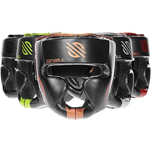 Sanabul Essential MMA Boxing Kickboxing Head Gear (Copper, S/M)