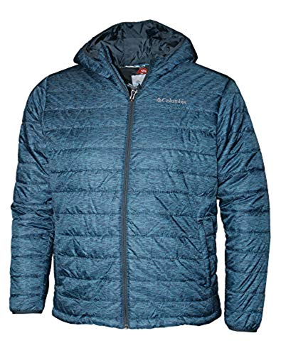 Columbia Men's Crested Butte Omni-Heat Hooded Jacket, Blue (Small, Mystery)