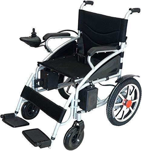 2020 Best Electric Wheelchair Folding Lightweight Heavy Duty Electric Power Motorized Wheelchair (Black)
