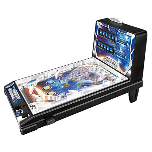 RPFF Space Pinball Mini Pinball Table Toy Children Play Pinball Game Mini Parent-Child Puzzle Pinball Machine with Lights and Sounds|Children's The Space Age Pinball Classic Game