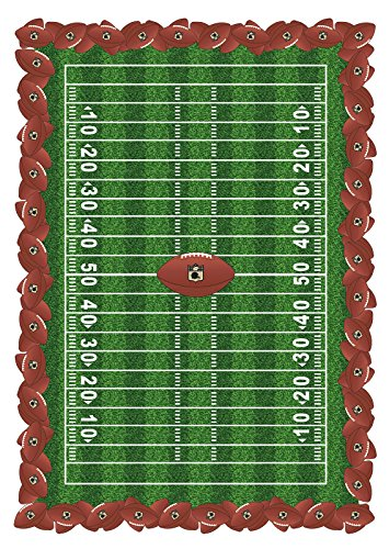 Fabric Textile Products Football Field Tablecloth 60'x84'