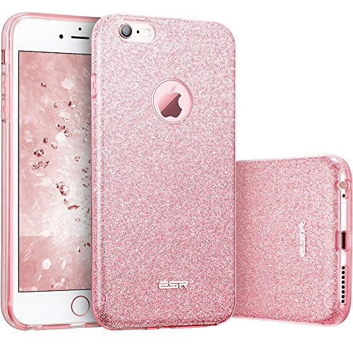 ESR Case for iPhone 6/6s, Luxury Glitter Sparkle Bling Designer Case [Slim Fit, Hard Back Cover] Shining Fashion Style Compatible for iPhone 6/6s 4.7' (Pink)