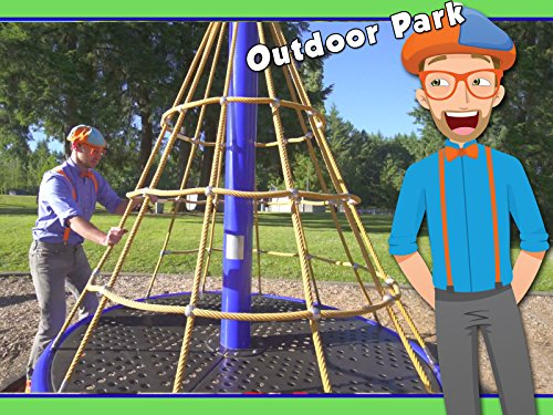 Learn Colors with Blippi - Playing at the Playground