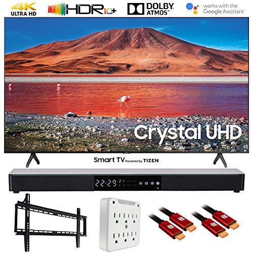 SAMSUNG UN65TU7000 65' 4K Ultra HD Smart LED TV (2020) with Deco Gear Soundbar Bundle