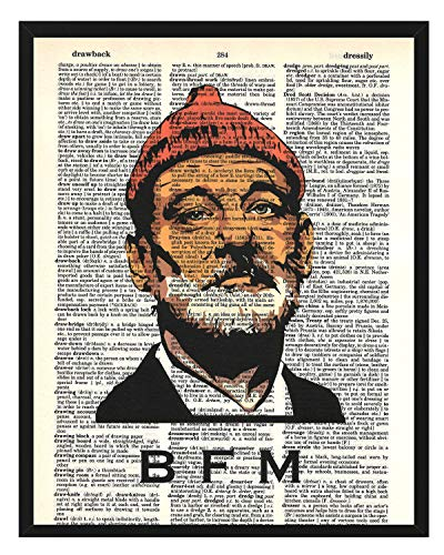 Bill Murray BFM the Chive the Life Aquatic Steve Zissou Photo Dictionary Art Print 8x10