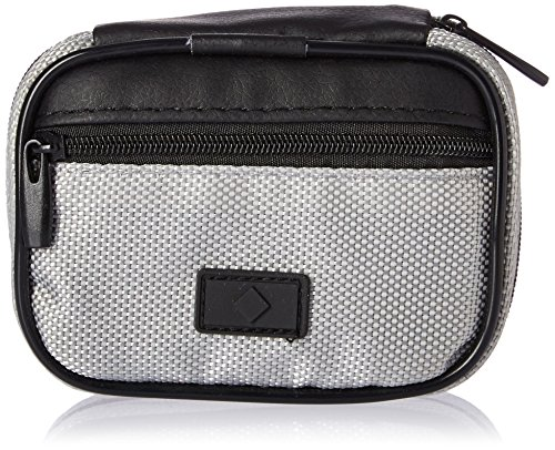 Fashion Smart Men's 7-Day Compartment Pill Box Zip Case with Outer Pocket, Silver