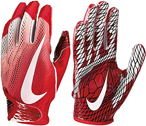 Nike Adult VaporKnit 2.0 Receiver Gloves 2018 (XL, Red/White)
