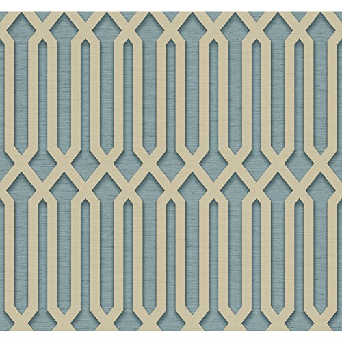 York Wallcoverings Dimensional Effects Oriana Removable Wallpaper, Grey, Blue