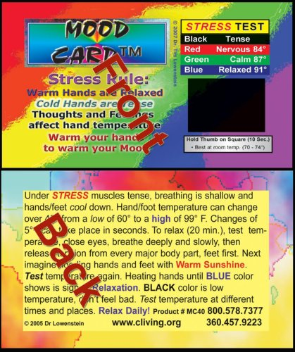 Stress Cards Mood Cards - MC 40 Heavy cardstock 100