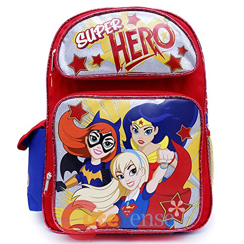 DC Super Hero Girls Large School 16' inches Backpack - Licensed