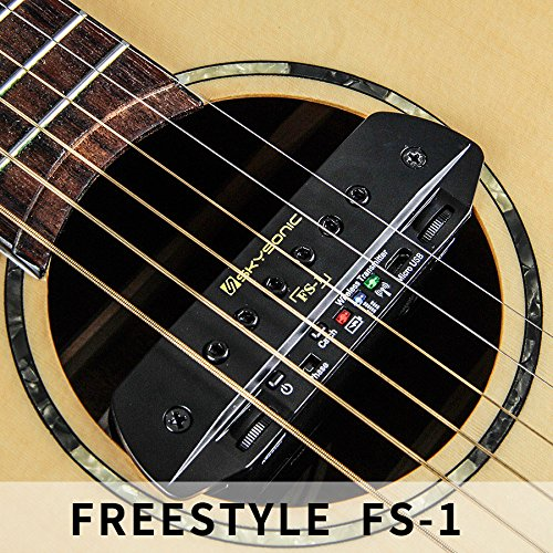 Skysonic Wireless Pickup FS-1 Acoustic Guitar Sound Hole Pickup Free Hole Wireless Transmission, dual pickup, with playing board,wireless guitar pickups system,tonewood amp