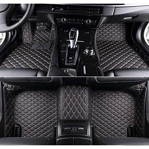 VVKS Luxury XPE Leather For BMW 3 Series Sedan E90 F30 2004-2018 Car Floor Mats Custom Fit All-Weather Covered Car mat Carpet Floor Auto Mats (black beige,2007)