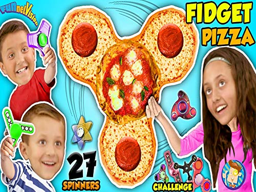 Fidget Spinner Pizza 27 Hand Spinners Collection Challenge Plus Human Spin