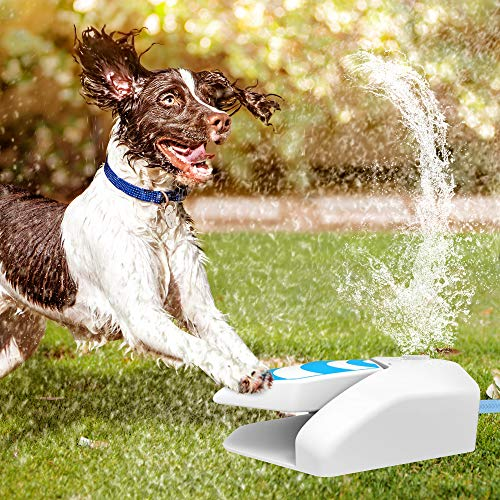 Pet Water Sprinkler Dog Water Fountain Automatic Dog Waterer Step on Outdoor Fresh Drinking Water Fountain for Dogs (Only Suit for Φ12mm Hose, which not Included in The Package)