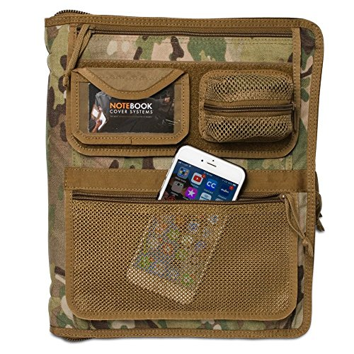 Tactical 3-Ring Cover System, Fits 0.5in-1in Binders, Multicam