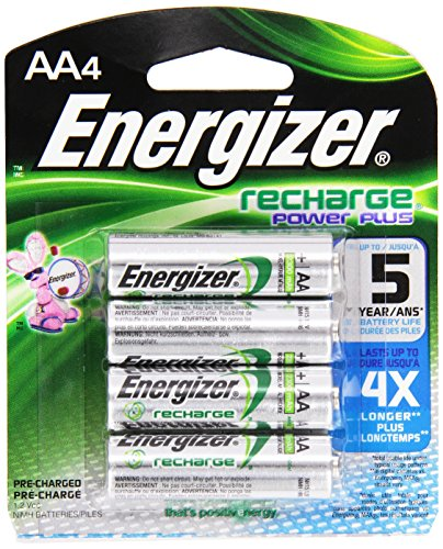 Energizer E2 Rechargeable AA Battery (2300 mAh), 1.2 Volt NiMH, 4 ct