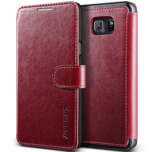 Galaxy Note 5 Case, Verus [Layered Dandy][Wine Red] - [Premium Leather Wallet][Slim Fit] For Samsung Note 5